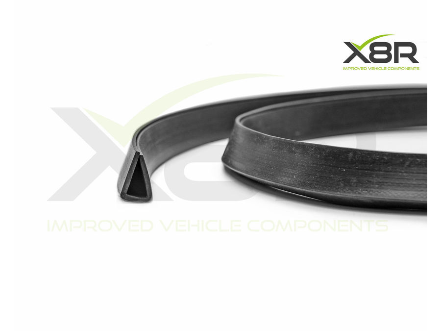 LARGE BLACK RUBBER U CHANNEL EDGING EDGE TRIM SEAL SQUARE PROTECTION PVC FLEX PART NUMBER: X8R0107