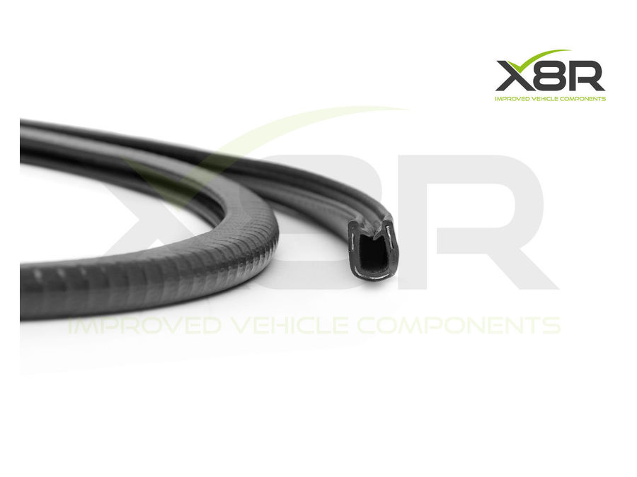 Black Flexible Metal Reinforced Car protective Rubber Edging Edge Trim Seal Part Number: X8R101 / X8R0101