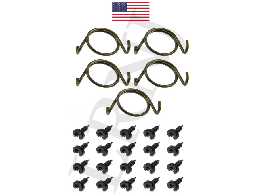 LAND ROVER RANGE ROVER CLASSIC 1970-1995 DOOR LOCK LATCH REBUILD SPRINGS & CLIPS SET PART NUMBER: X8R10/CLIPS3