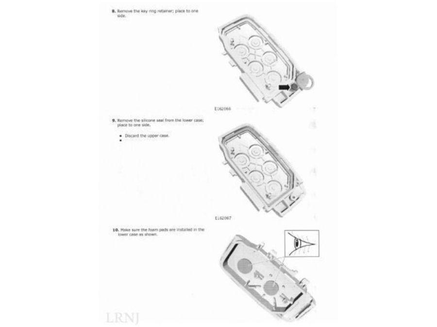 land rover lr2    freelander 2 remote control key fob cover case part number  lr059382