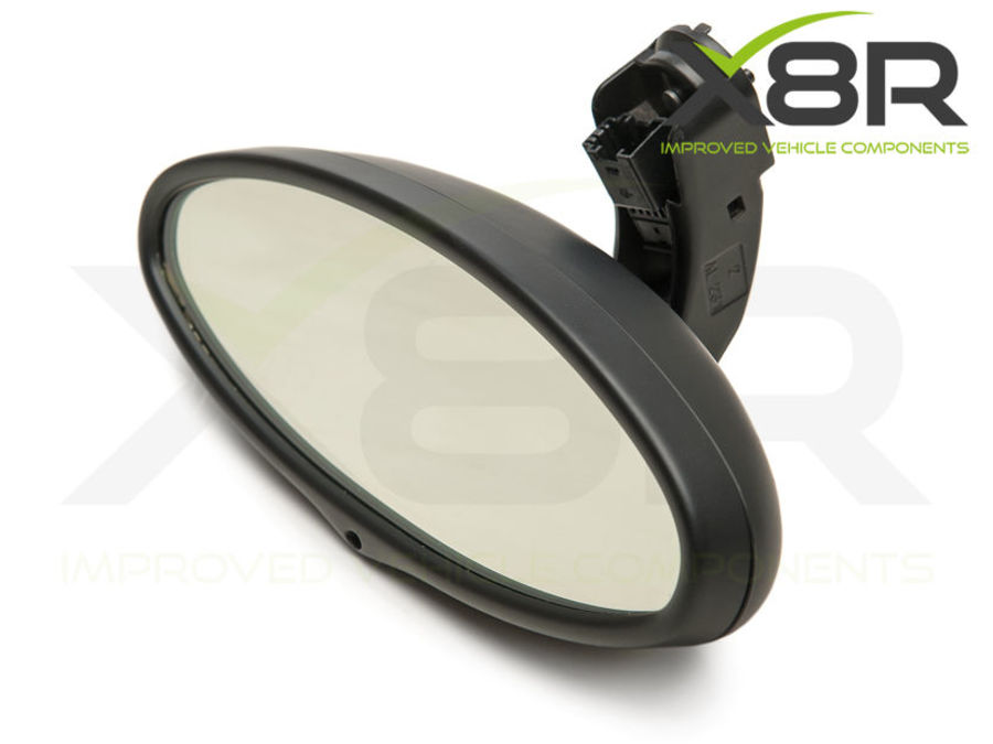 BMW E46 M3 OVAL REAR VIEW MIRROR AUTO  DIM DIMMING REPLACEMENT GLASS CELL PART NUMBER: X8R0073