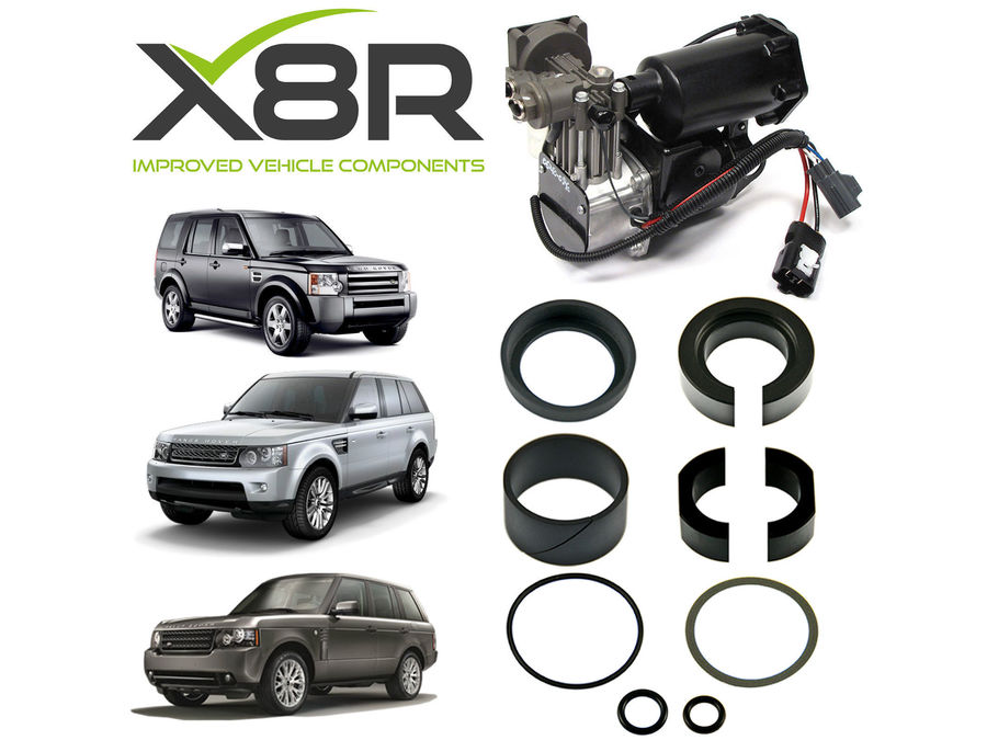 LAND ROVER RANGE ROVER 2006-2009 AIR COMPRESSOR REPLACEMENT PISTON SEALS REBUILD KIT PART NUMBER: X8R27
