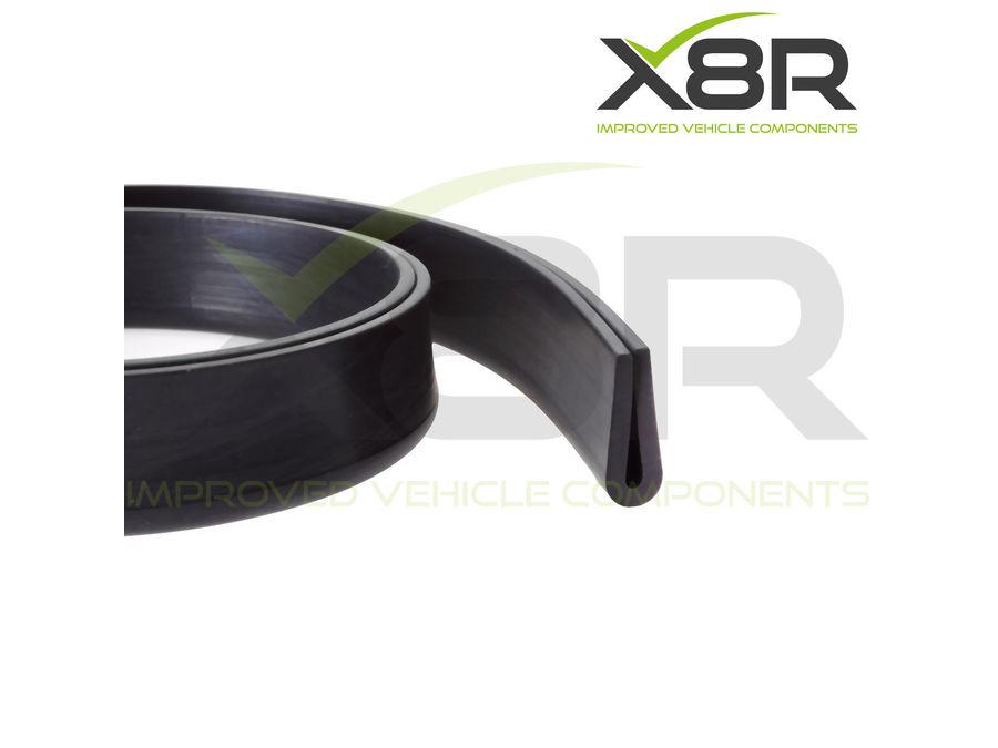 large rubber  channel edging edge trim black seal push fit deep mm mm strip part number