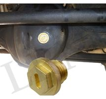 LAND ROVER DISCOVERY 2 FRONT REAR DIFFERENTIAL AXLE OIL LEVER BRASS PLUG – ONE PART NUMBER: FTC5403