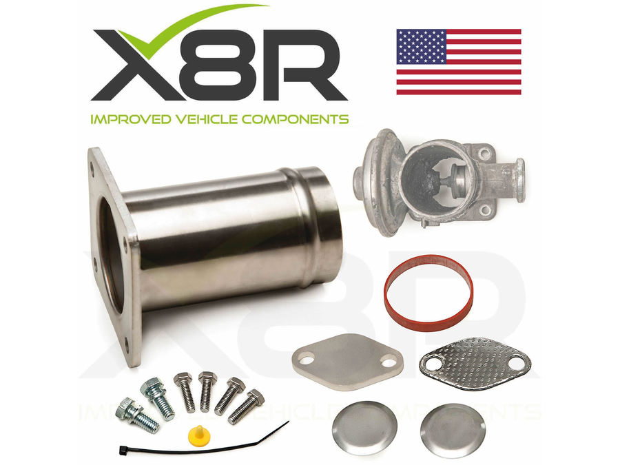 BMW X5 E53 3.0d DIESEL EGR VALVE DELETE BUPASS STAINLESS STEEL TUBE BLANK KIT PART NUMBER: X8R0088