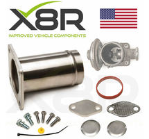 BMW EGR VALVE REMOVAL PIPE TUBE  DELETE BLANK KIT BYPASS OVERHAUL REPAIR KIT PART NUMBER: X8R0088