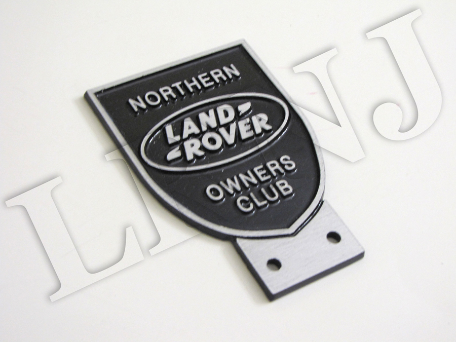 LAND ROVER OWNERS CLUB NORTHERN NEW ORIGINAL BADGE ALUMINIUM CAST