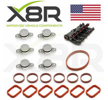 6X 22MM BMW DIESEL SWIRL FLAP BLANKS FLAPS REPAIR WITH INTAKE MANIFOLD GASKETS PART NUMBER: X8R0066-X8R0024