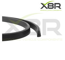 Small Low Profile Black Rubber U Channel Edging Trim Seal Extrusion Protector Part Number: X8R0121