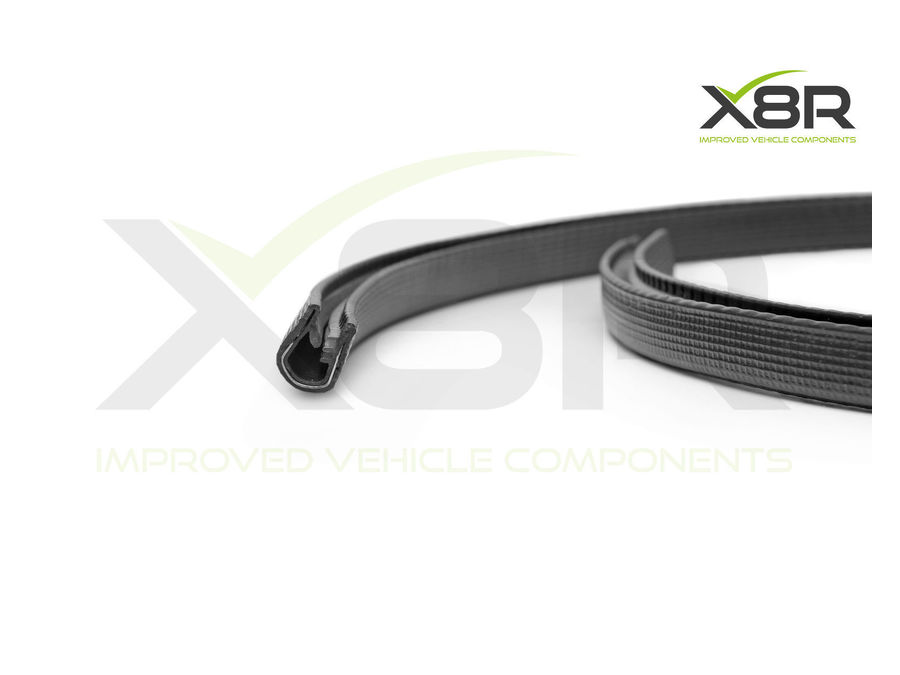 LARGE BIG BLACK FLEXIBLE METAL CAR PROTECTIVE RUBBER EDGING EDGE TRIM SEAL KIT PART NUMBER: X8R103 / X8R0103