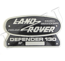 LAND ROVER SOLIHULL WARWICKSHIRE ENGLAND DEFENDER 130 ORIGINAL BADGE