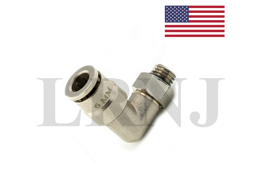FOR MERCEDES 6MM ANGLE ELBOW CONNECTION FOR AIR SUSPENSION COMPRESSOR PUMP PART NUMBER: LRNJELBOW6