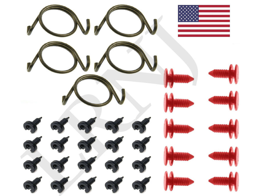 LAND ROVER DISCOVERY 1 1989-1998 DOOR LOCK LATCH REPAIR SPRINGS AND CLIPS SET PART NUMBER: X8R10/CLIPS1