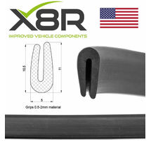 SMALL BLACK RUBBER U CHANNEL EDGING EDGE TRIM SEAL 0.5MM 1MM 2MM PROTECTION PART NUMBER: X8R0106